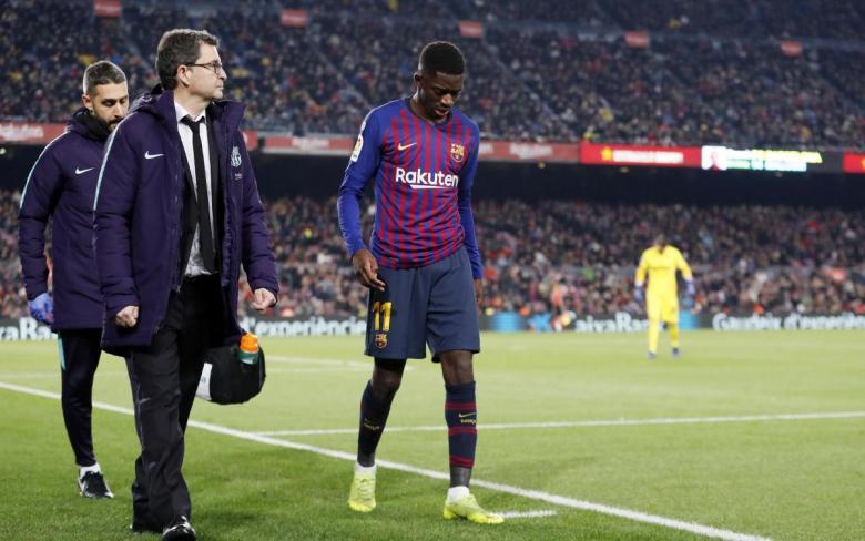 سر رفض ديمبلي إجراء فحوصات طبية عقب الإصابة مع برشلونة