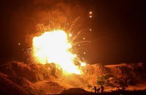 فعاليات الإرباك الليلي شرقي غزة الليلة الماضية