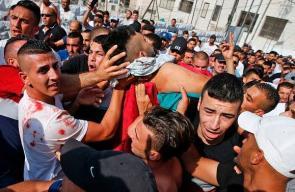 تشييع جثمان الشهيد محمد أبو غنام في بلدة الطور بالقدس
