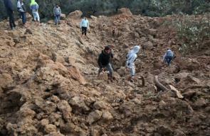 آثار القصف الإسرائيلي الذي استهدف غزة