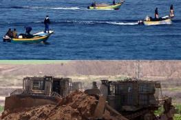 توغل محدود شرق غزة وإستهداف للصيادين شمال القطاع