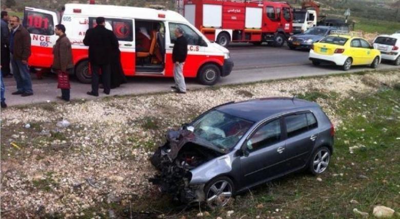 مصرع سيدة في حادث سير ببلدة تقوع شرق بيت لحم