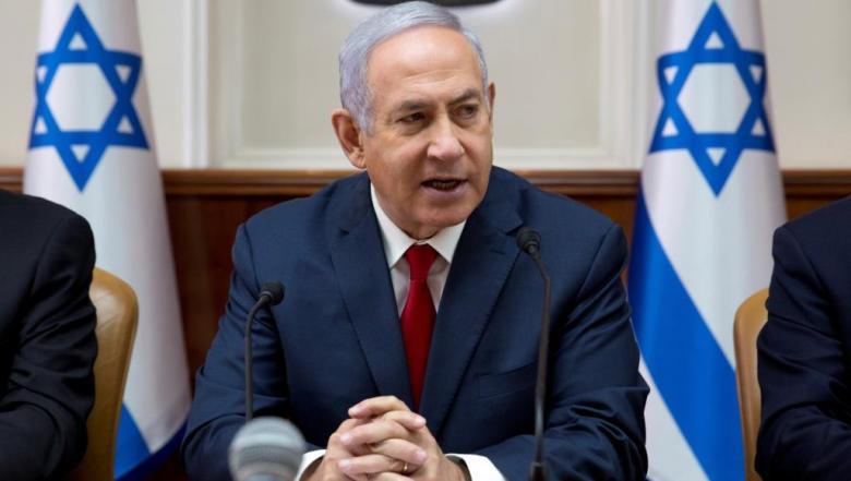 """نتنياهو: سنرد بفوة على قصف """"تل أبيب"""""""