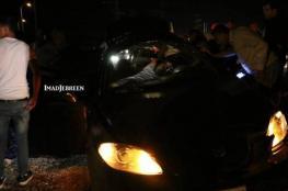 إصابة مواطنين بحادث سير شرق بيت لحم