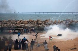 18 إصابة في اعتداء الاحتلال على الحراك البحري شمال غزة