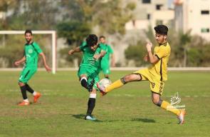 مباراة خدمات النصيرات والزيتون في دوري الدرجة الأولى