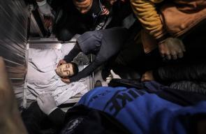وداع الشهيد الطفل الداية الذي ارتقى برصاص الاحتلال أمس
