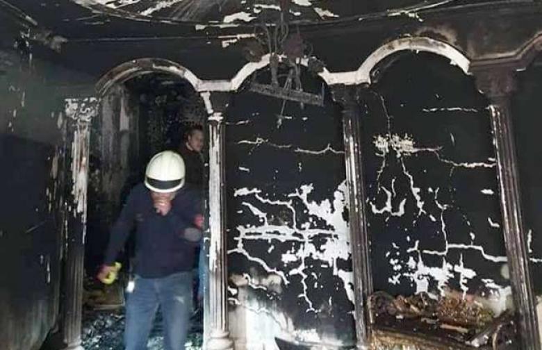 حريق فيلا والد الفنان إيهاب توفيق