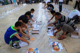 الأقصى يشهد إفطارات واسعة عشية الجمعة الثالثة من رمضان