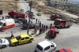 10 إصابات بحادث سير في نابلس