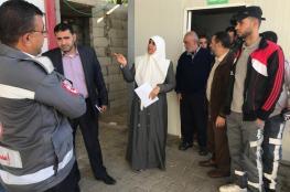 النائب نعيم تتفقد مركز الإسعاف والطوارئ بدير البلح
