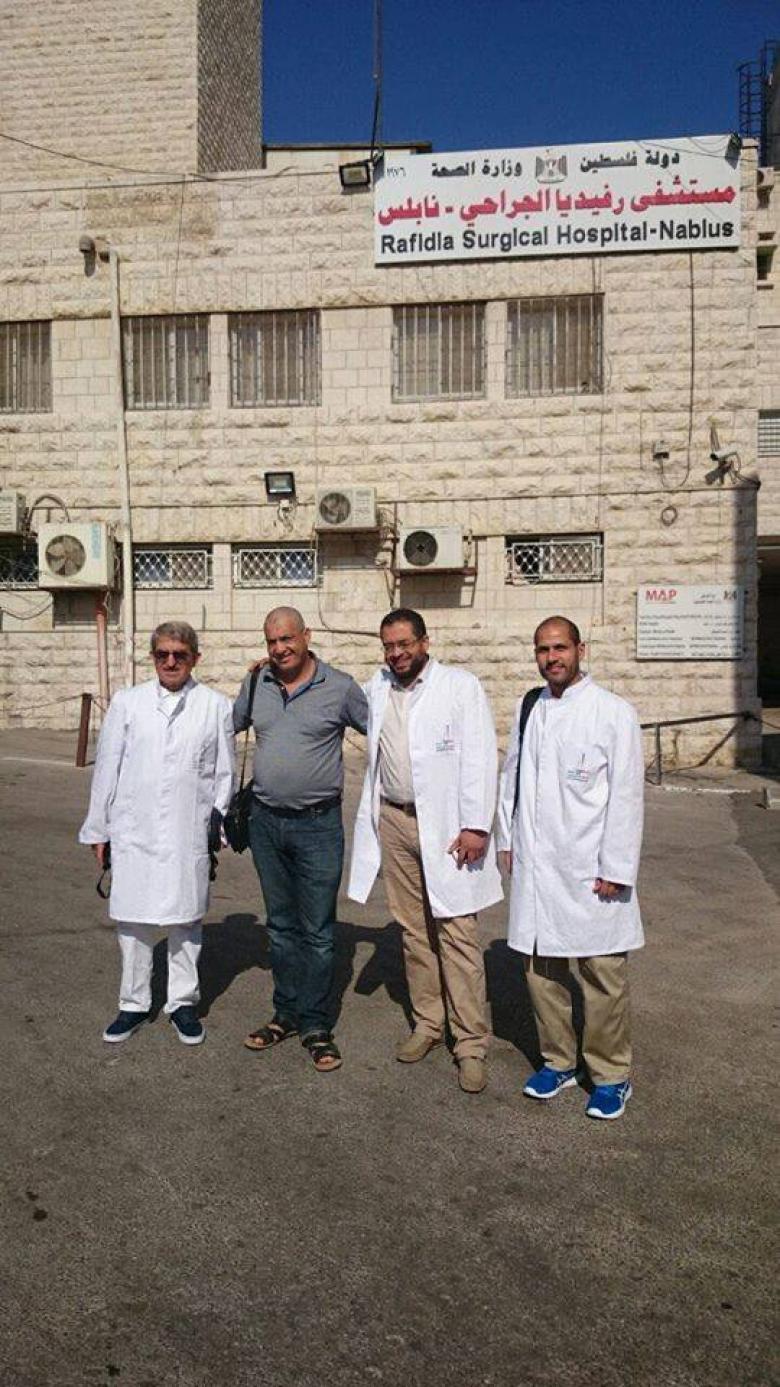 وفد طبي ألماني فلسطيني يصل نابلس