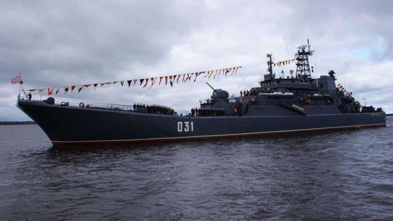 سفينة إنزال روسية ضخمة تدخل مياه المتوسط