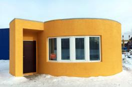 طباعة منزل كامل عبر طابعة ثلاثية الأبعاد