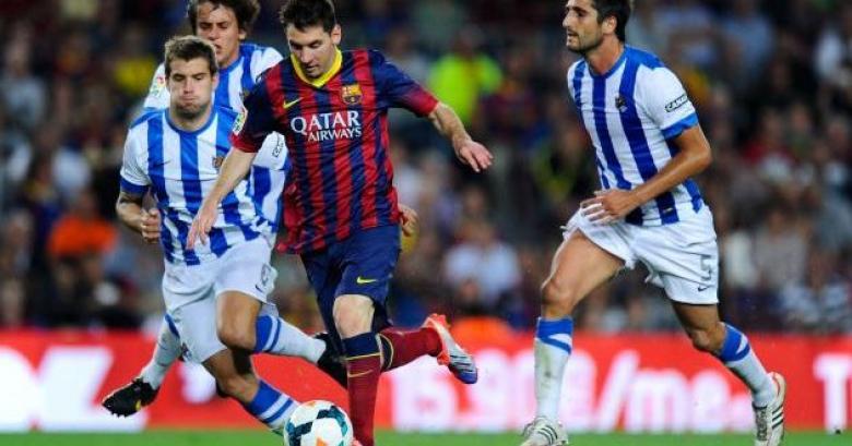 برشلونة يفوز على سوسييداد بشق الأنفس