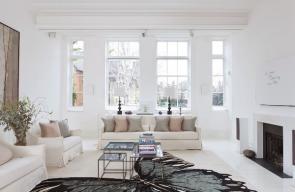 ديكورات منازل بسيطة باللون الأبيض