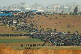 32 إصابة خلال قمع الاحتلال للمشاركين في مسيرات العودة