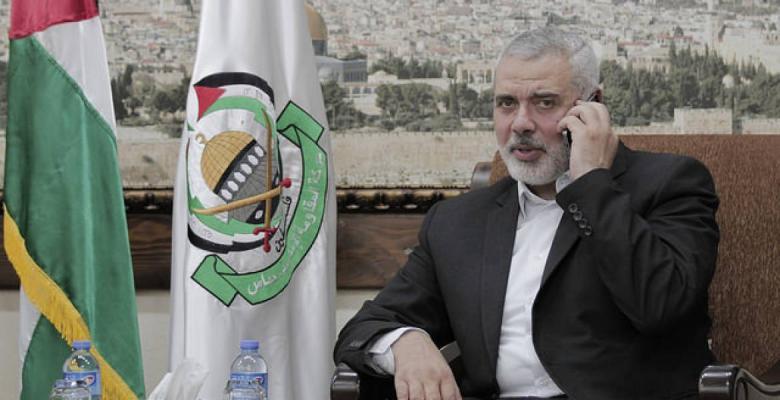هنية يعزي الرئيس العراقي بضحايا الزلزال