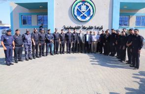 هنية وعدد من قيادات حركة حماس يزورون قيادة جهاز الشرطة والأمن بغزة