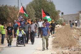مسيرة حاشدة ببلعين للتأكيد على استمرار المقاومة الشعبية
