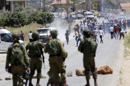 3 إصابات بالرصاص الحي بمواجهات مع الاحتلال بعوريف