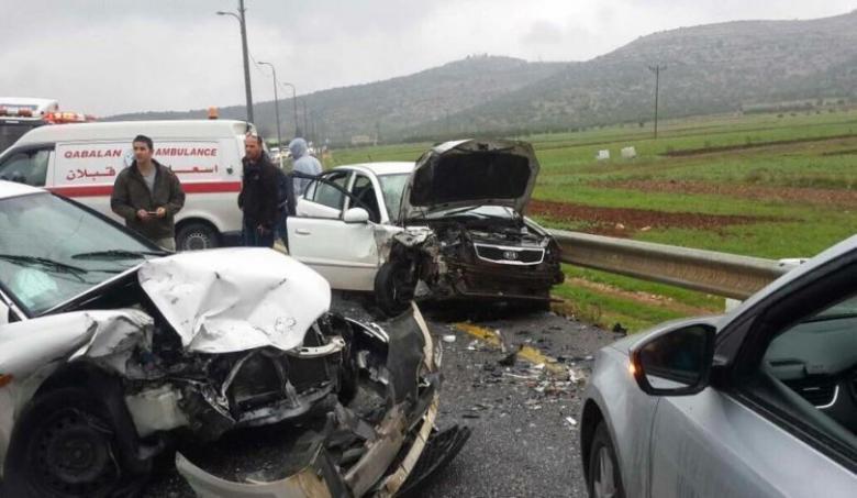 128 إصابة في حوادث الضفة الأسبوع الماضي
