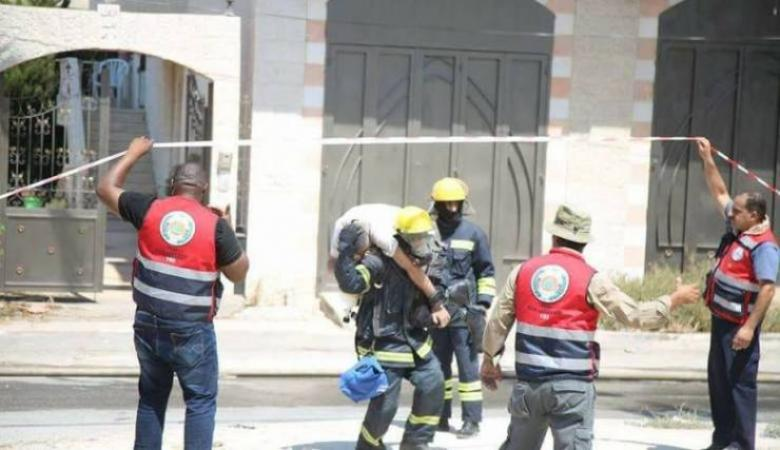 مناورة لمحاكاة مخاطر الزلازل في نابلس