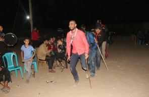 صور جلسة دحية كشفية بمخيم العودة شرق البريج