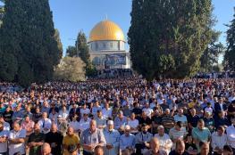 100 ألف مصل يؤدون صلاة العيد بالأقصى