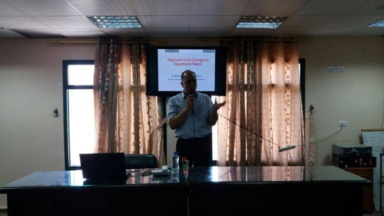 مستشفى شهداء الأقصى ينظم محاضرة حول طب الطوارئ