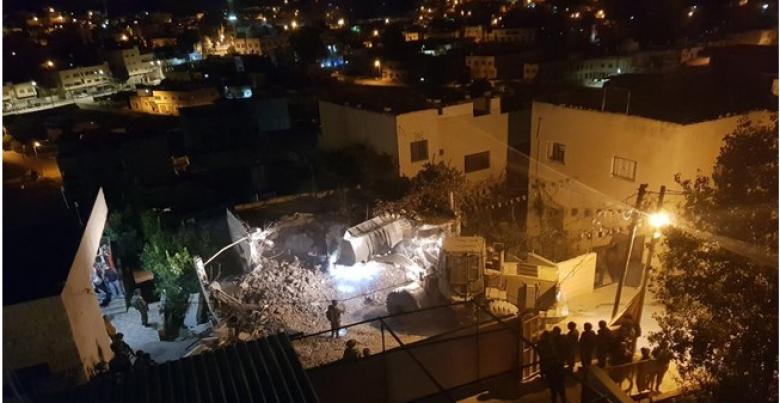 الاحتلال يقتحم قباطية ويهدم منزل عائلة أسير