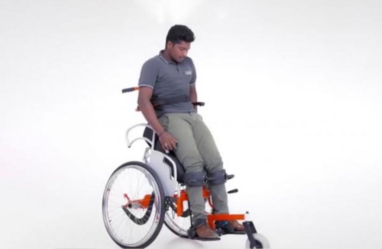 شركة هندية تبتكر كرسيا يسمح للمعاقين بالوقوف