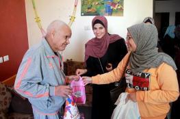 جامعة الأقصى تنظم زيارة لمركز الوفاء لرعاية المسنين بغزة