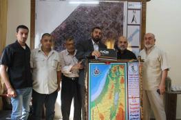 بلدية دير البلح تستقبل اللجنة الشعبية للاجئين