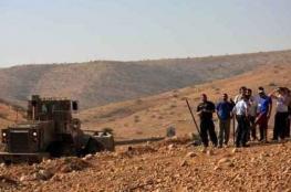الاحتلال يدمّر خط مياه في الأغوار الشمالية