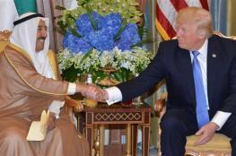 أمير الكويت يبحث مع ترامب حل الأزمة الخليجية