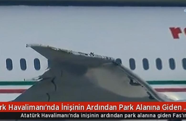 اصطدام طائرة مغربية بأخرى تركية بمطار أتاتورك