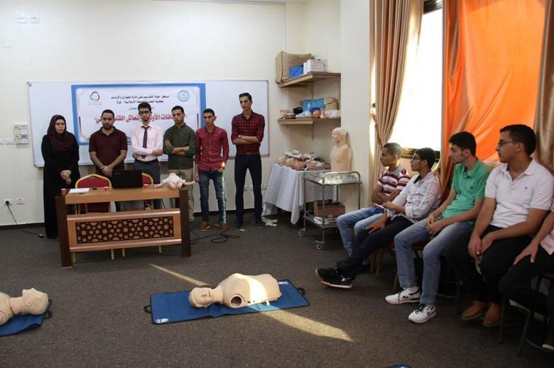 """""""حياة"""" بطب الإسلامية يعقد دورة تدريبية لطلبة المستوى الأول"""