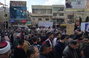 نابلس: وقفة ضد ترامب رفضاً لنقل سفارة بلاده للقدس