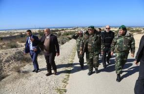 وكيل وزارة الداخلية يتفقد الحدود مع مصر