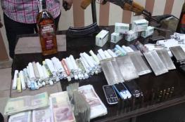 القبض على أحد كبار تجار المخدرات بنابلس