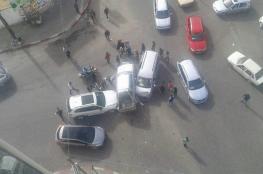 9 إصابات في حادث سير وسط غزة