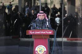 العمادي يصل  قطاع غزة عبر معبر بيت حانون
