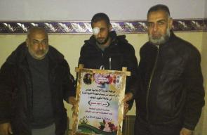 حماس تزور جرحى انتفاضة القدس وسط القطاع