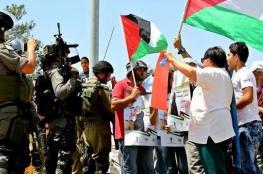 قوات الاحتلال تقمع مسيرة بلعين السلمية