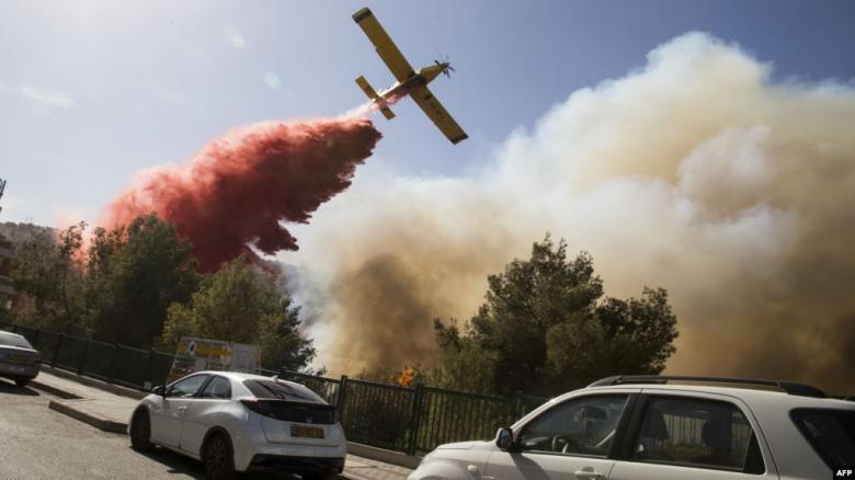 """طائرات قبرصية تشارك في إخماد الحرائق في """"إسرائيل"""""""