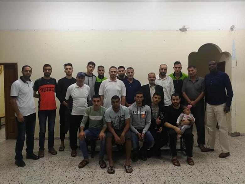 إدارة البريج تجتمع بفريق السلة عقب المشاركة العربية