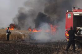 حريق جديد في غلاف غزة