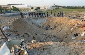آثار الدمار الذي لحق بمنزل أبو عمرة إثر قصف الاحتلال الليلة