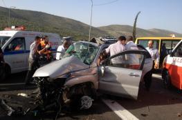 6 إصابات في حادث سير بين أربع مركبات بنابلس